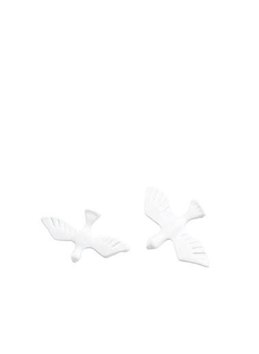 Divarese Broş Beyaz